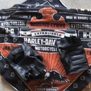 Harley Davidson fingerless gloves